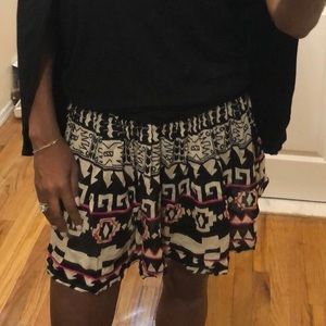 Dresses & Skirts - Tribal black and cream mini skirt